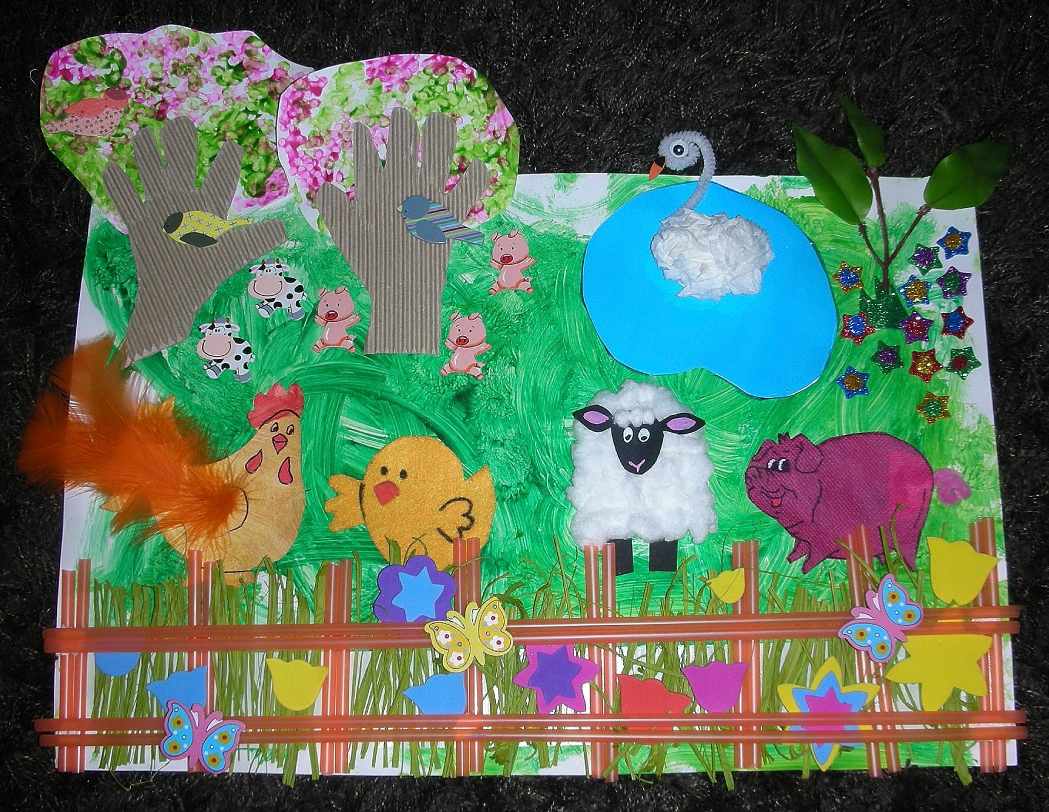 Printemps À La Ferme - Tableau Tactile À Fabriquer Avec Les à Tableau De Peinture Pour Enfant