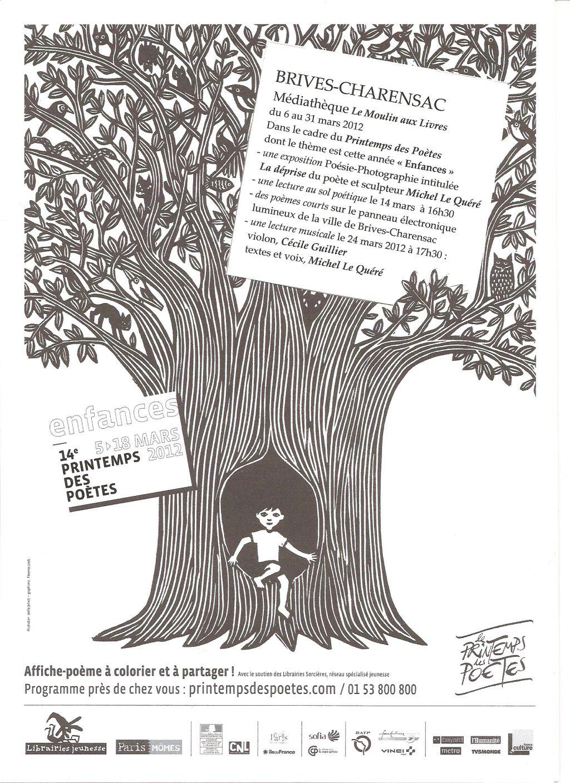 Printemps Des Poètes 2012 - Michel Le Quéré à Mars De Maurice Careme A Imprimer
