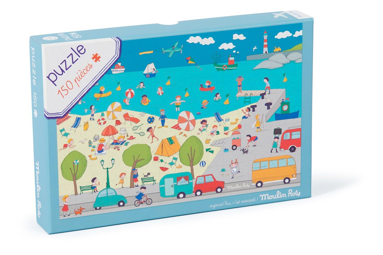 Puzzle A La Mer 150 Pièces Aujourd'hui C'est Mercredi avec Puzzle Gratuit Enfant