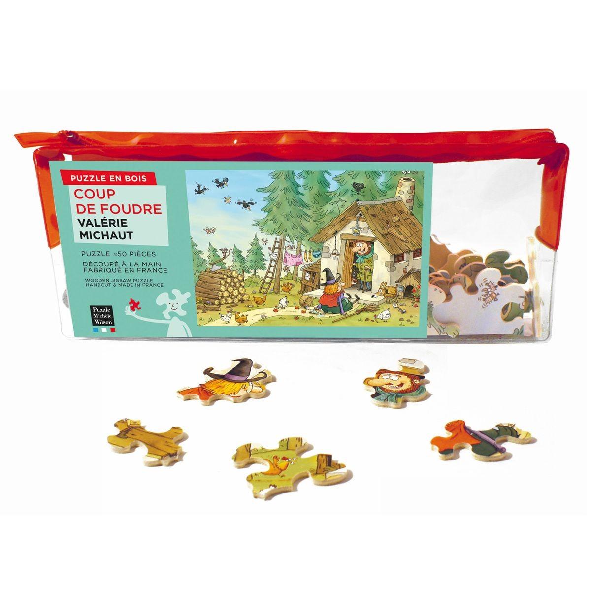Puzzle D'art En Bois 50 Pièces Michèle Wilson - Michaut intérieur Puzzle En Ligne Enfant