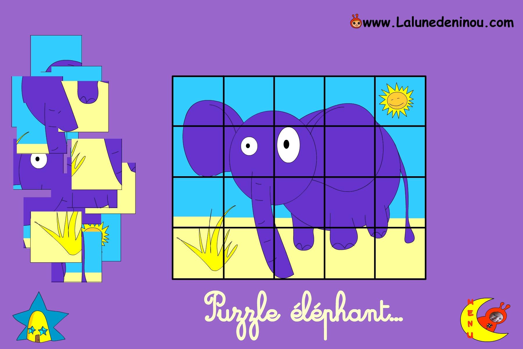 Puzzle En Ligne Pour Enfant De Maternelle - Lalunedeninou intérieur Jeux Facile Pour Petit Gratuit