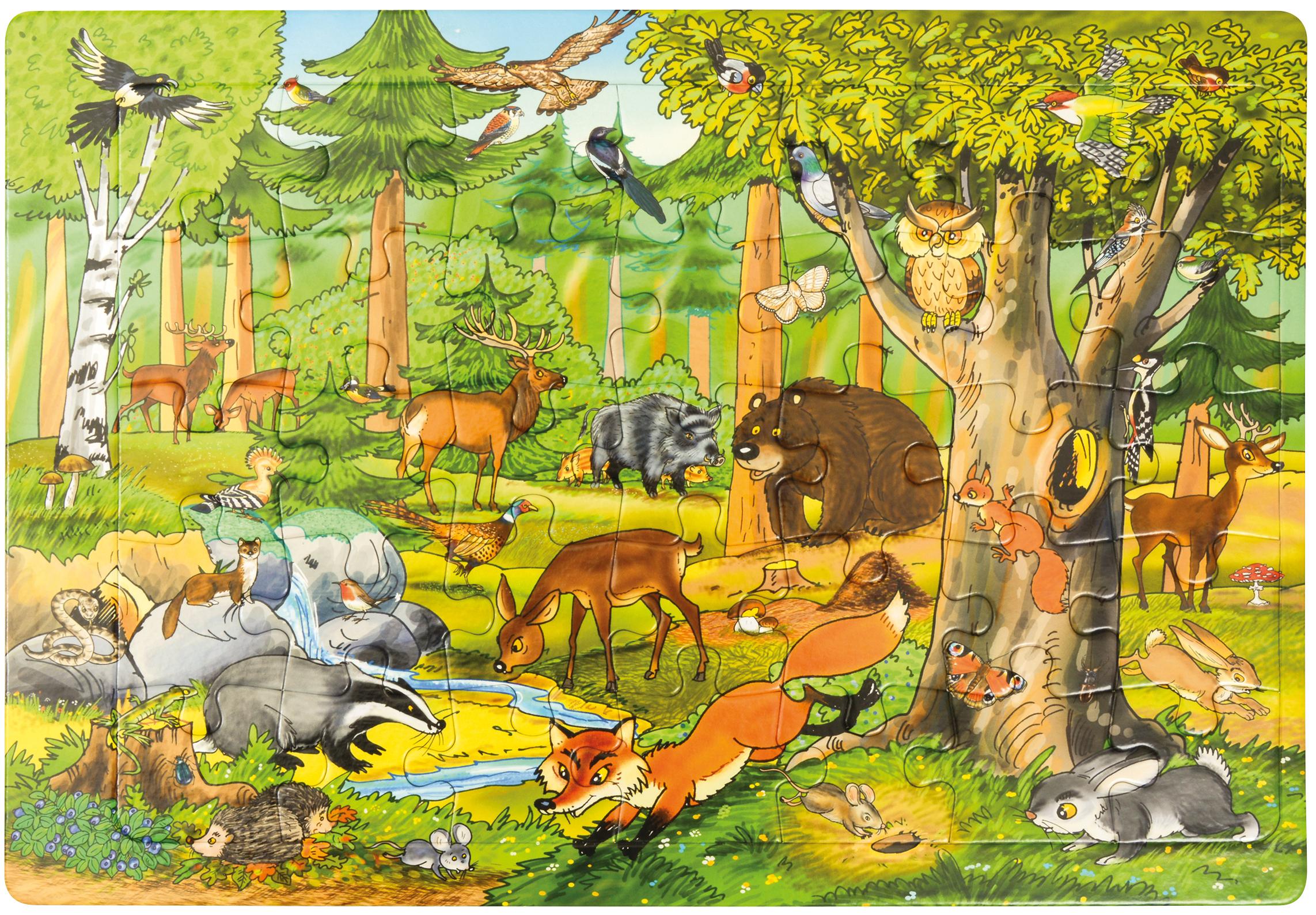 Puzzle Les Animaux De La Forêt - Botapis intérieur Image D Animaux De La Foret