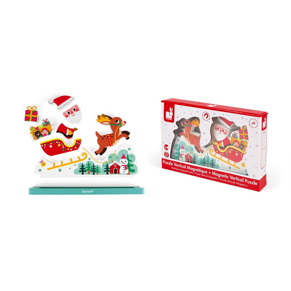 Puzzle Vertical Magnétique - Le Traîneau Du Père-Noël avec Image De Traineau Du Pere Noel
