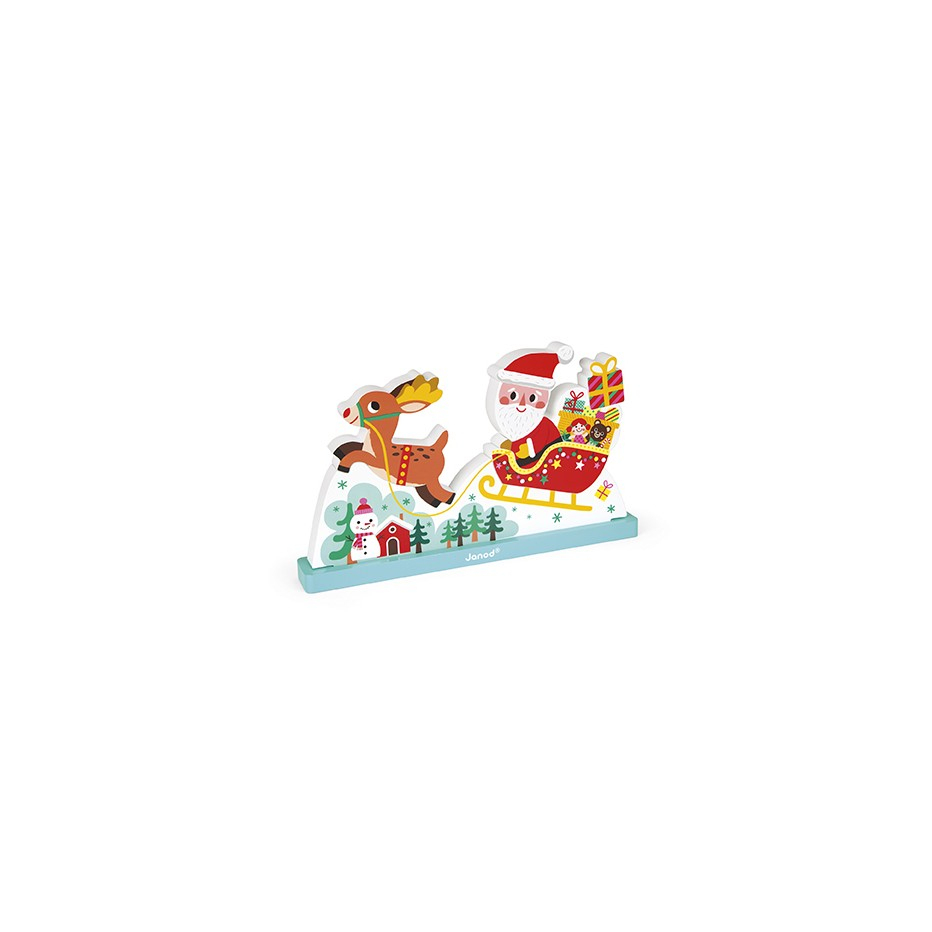 Puzzle Vertical Magnetique Le Traineau Du Pere Noel destiné Image De Traineau Du Pere Noel