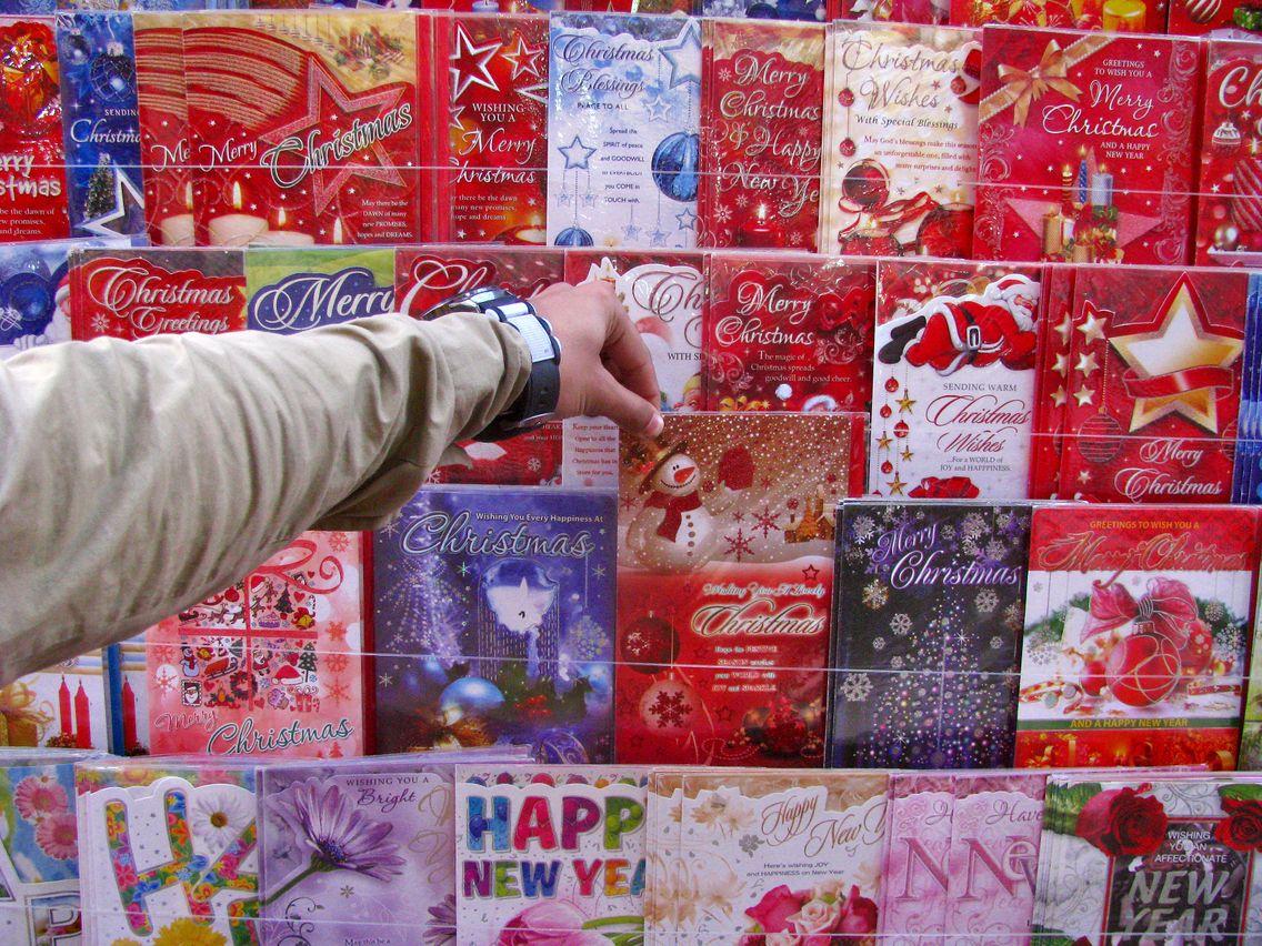 Quand Une Carte De Vœux Chaton-Père Noël Se Transforme En destiné Chanson De Noel En Chinois