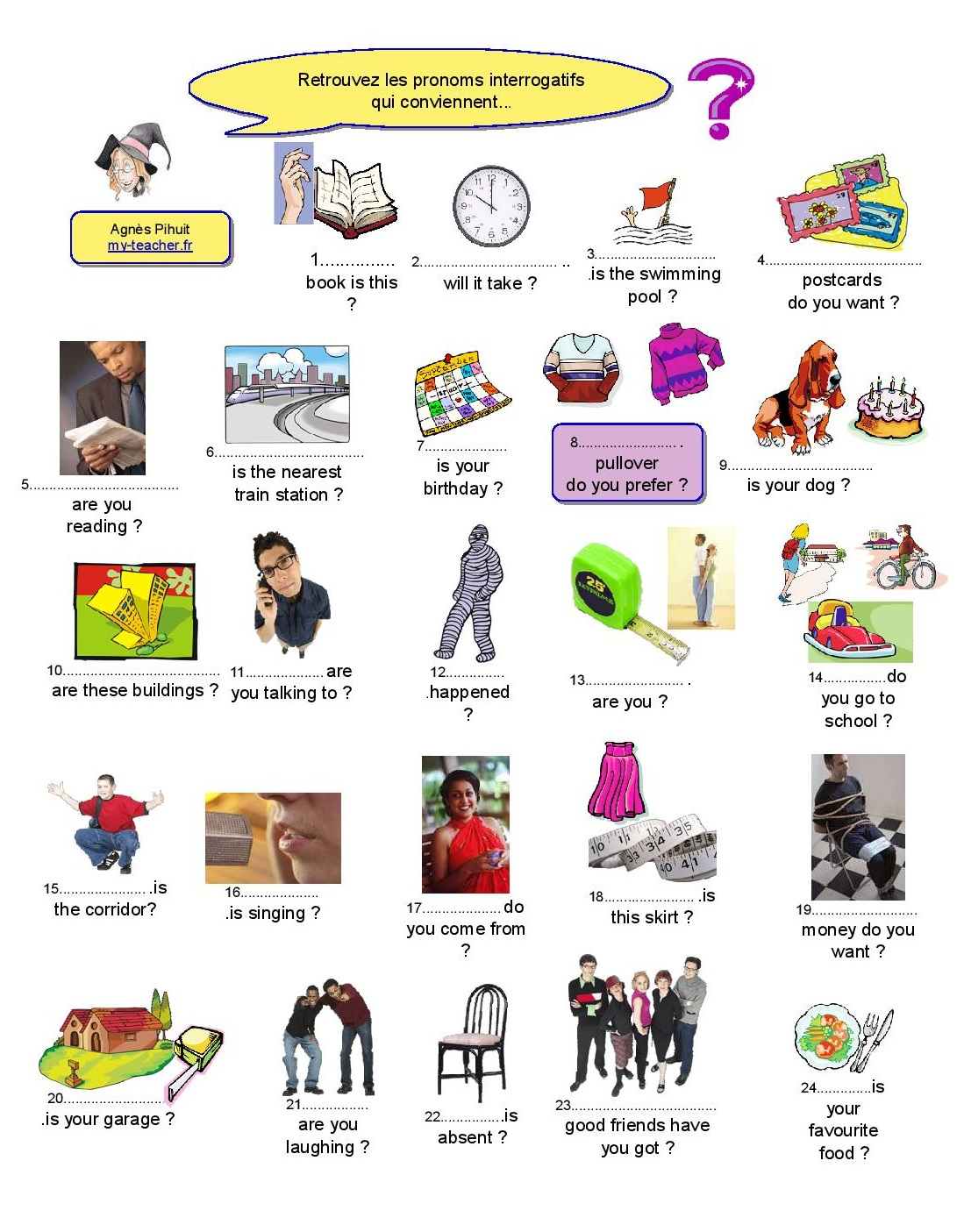 Questions Ouvertes : Wh- Questions - My-Teacher.fr pour ...
