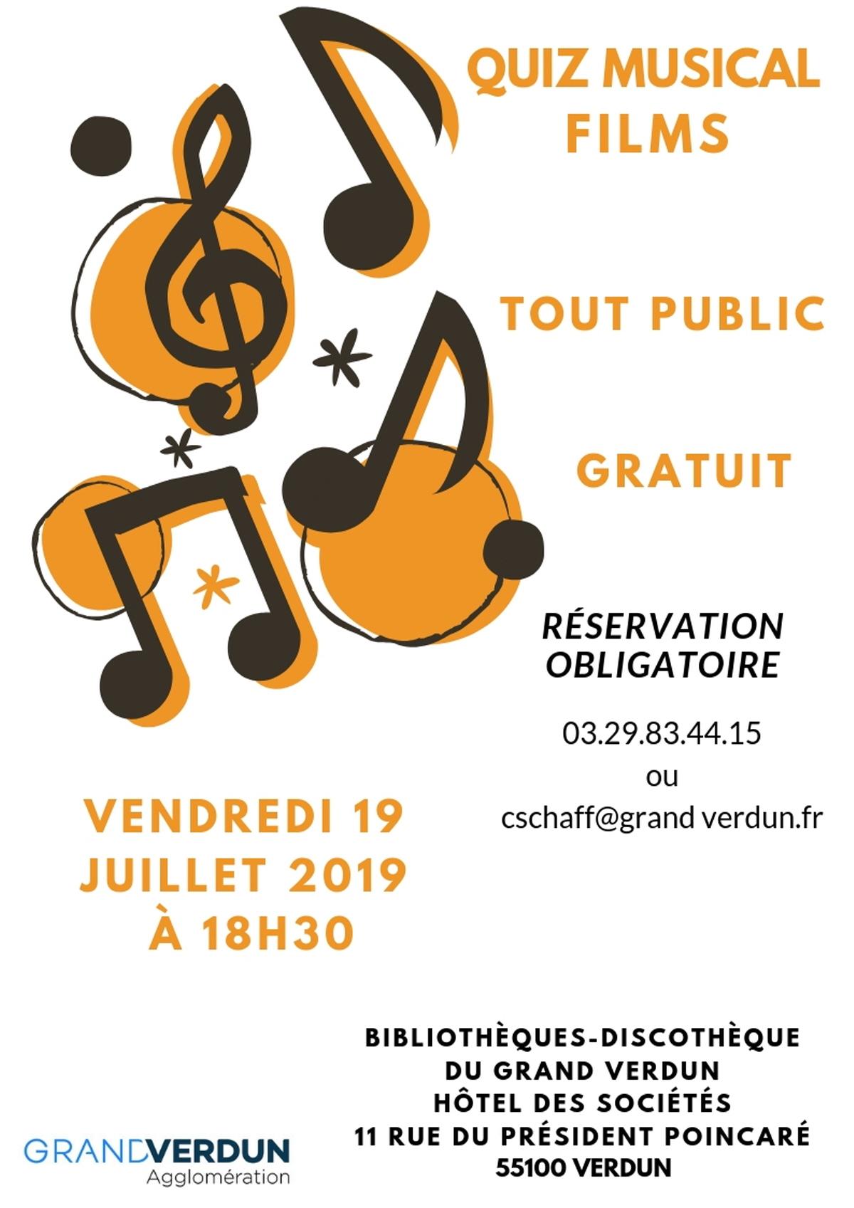 Quiz Musical Musiques De Films : Jeu, Concours A Verdun dedans Quiz Musical En Ligne