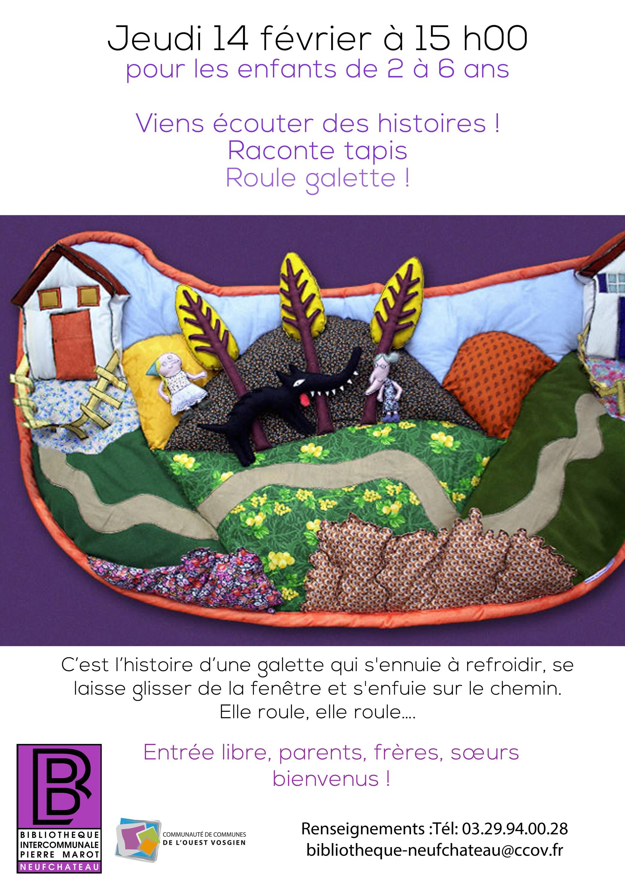 """Raconte-Tapis """"roule Galette"""" à Histoire Roule Galette"""