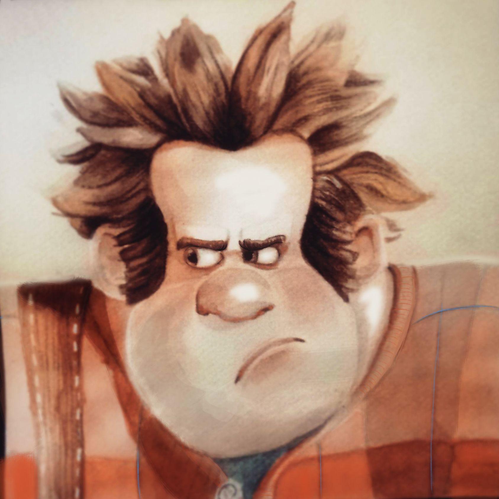 Ralph La Casse #disney #lesmondesderaplh #watercolor pour Coloriage Ralph La Casse