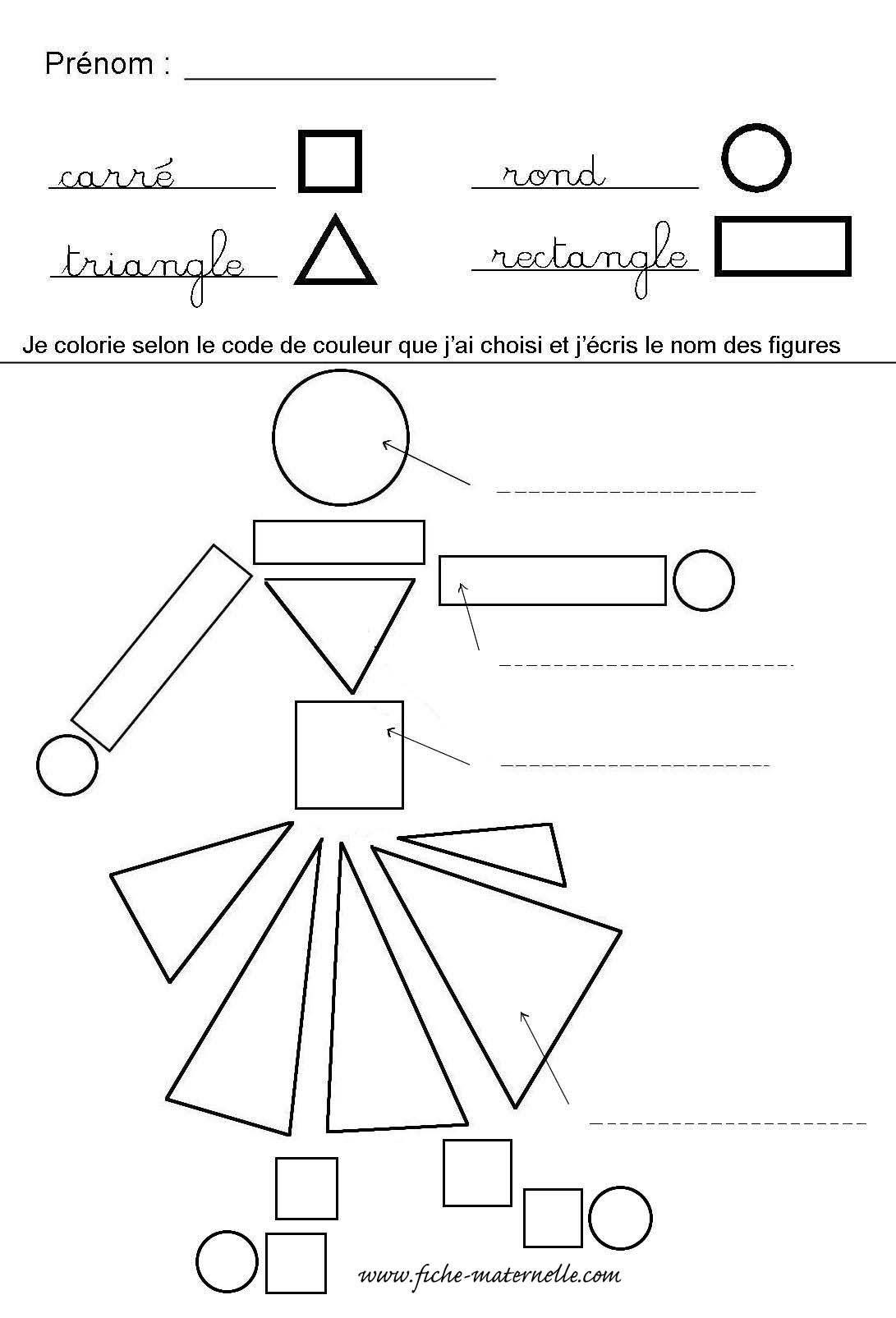 Reconnaître Les Formes Géométriques En Maternelle | Formes à Fiche D Exercice Grande Section A Imprimer