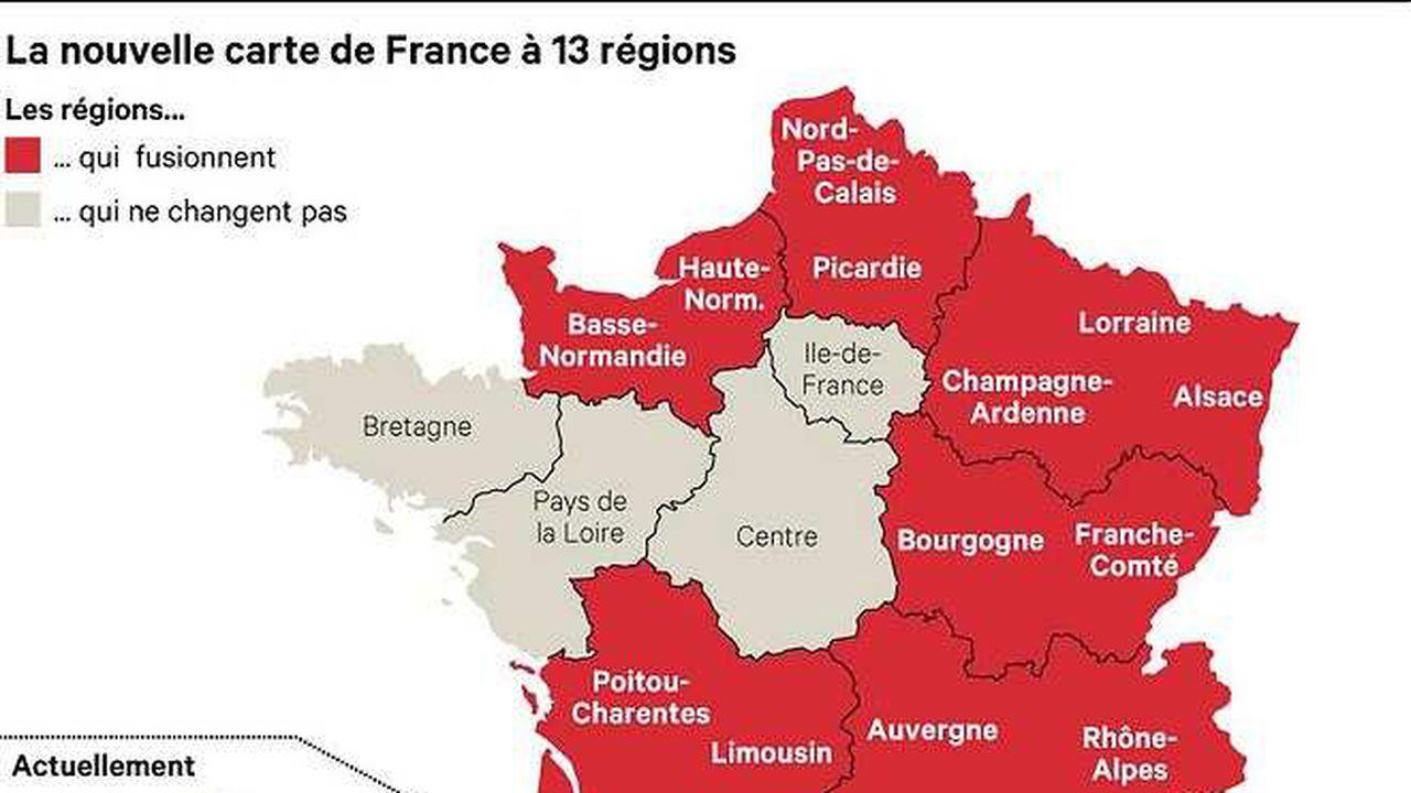 Réforme Territoriale : La Carte À 13 Régions Définitivement pour Nouvelle Carte Des Régions De France