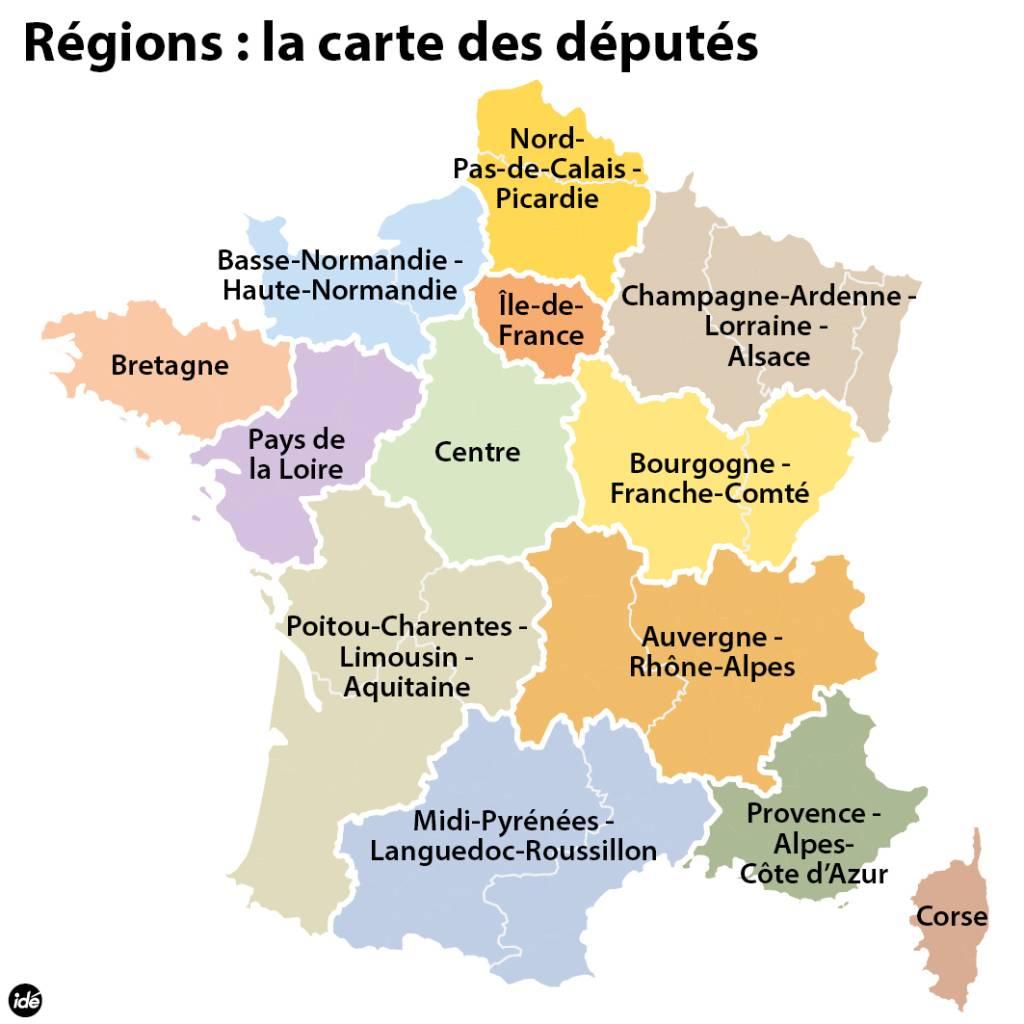 Réforme Territoriale : La Nouvelle Carte De France Des 13 pour Nouvelle Carte Des Régions De France