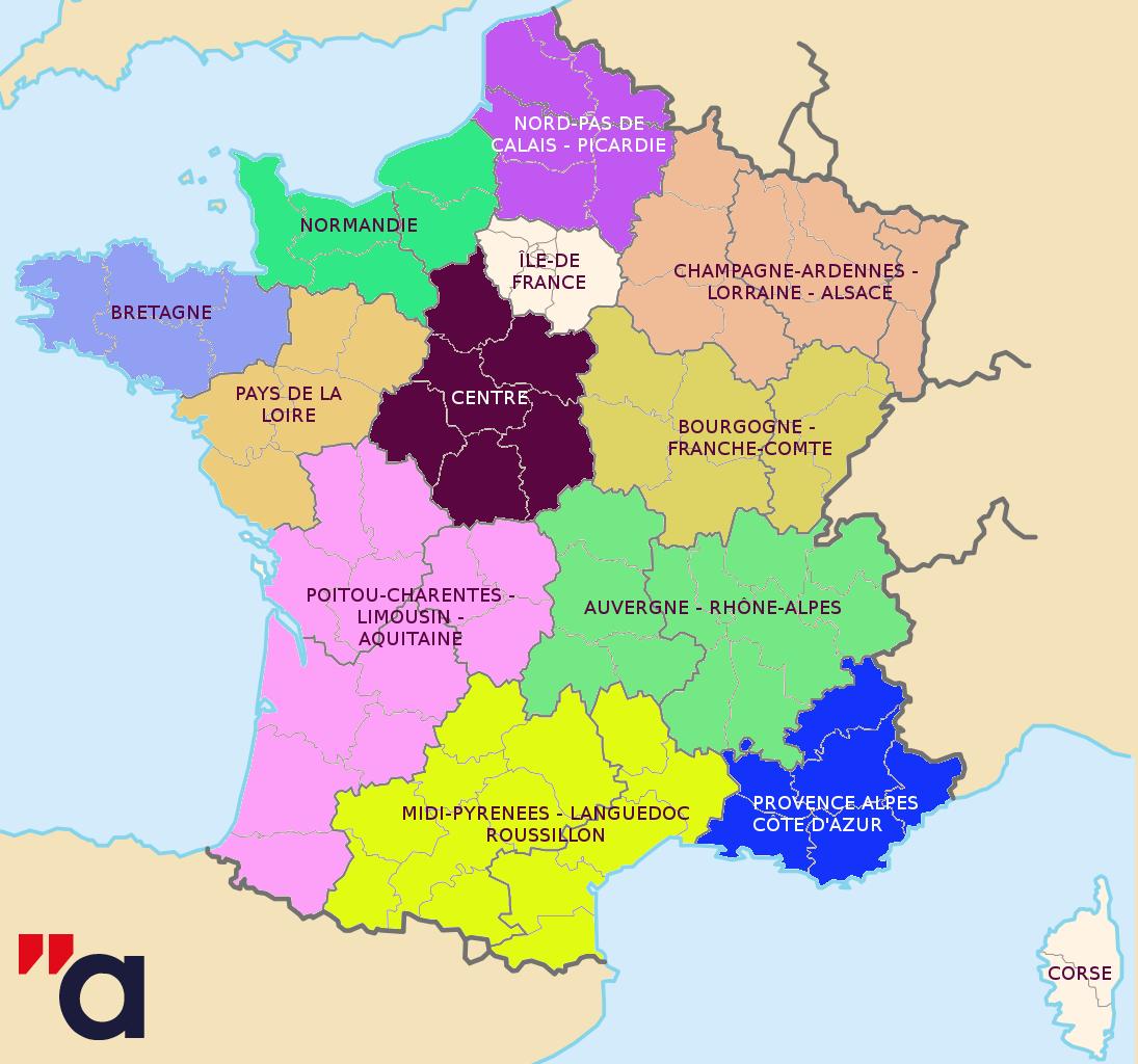 Réforme Territoriale : Les Députés Adoptent La Nouvelle à Nouvelle Carte Des Régions De France