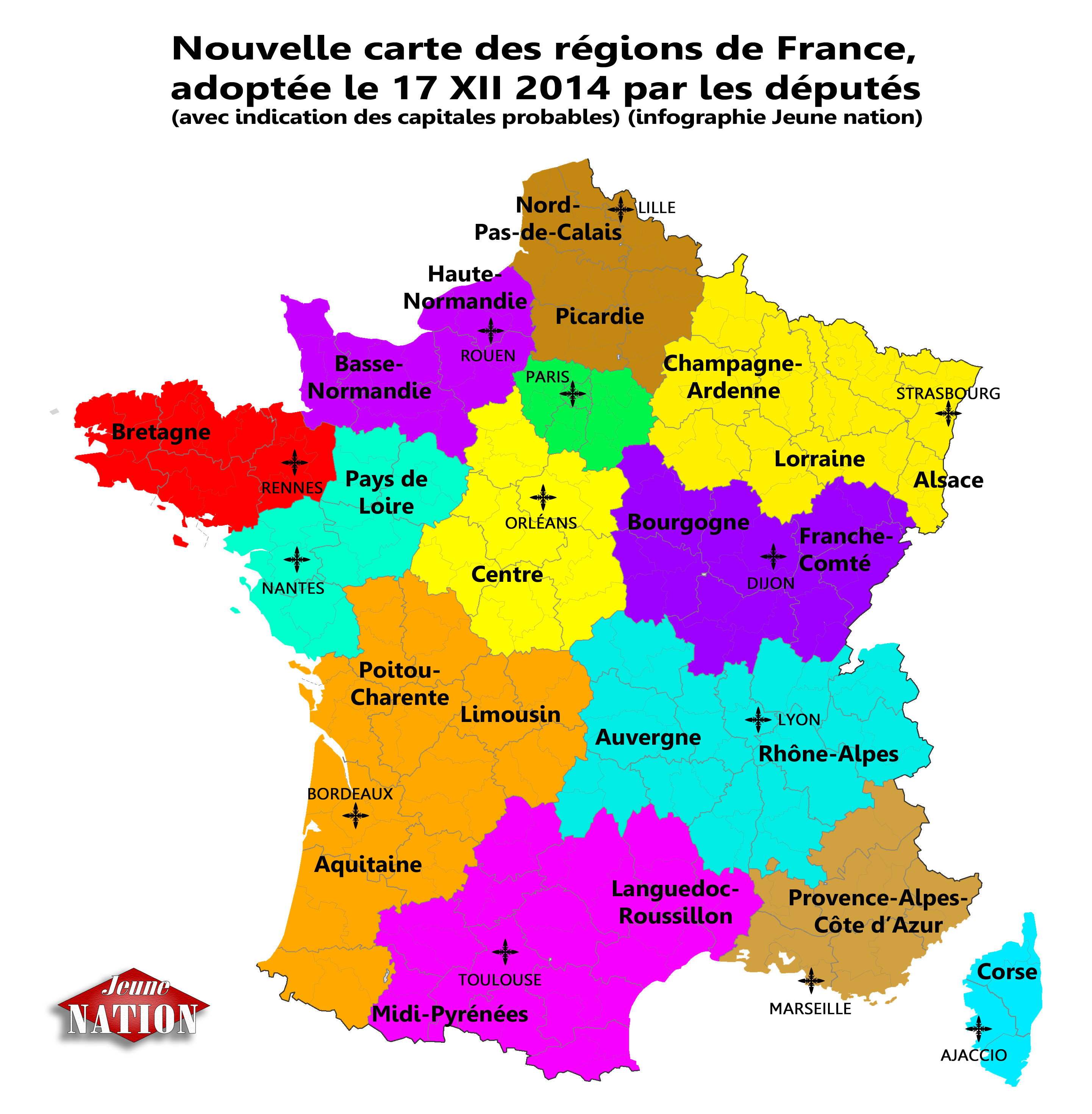 Réforme Territoriale : Les Députés Valident Définitivement destiné Nouvelle Carte Des Régions De France