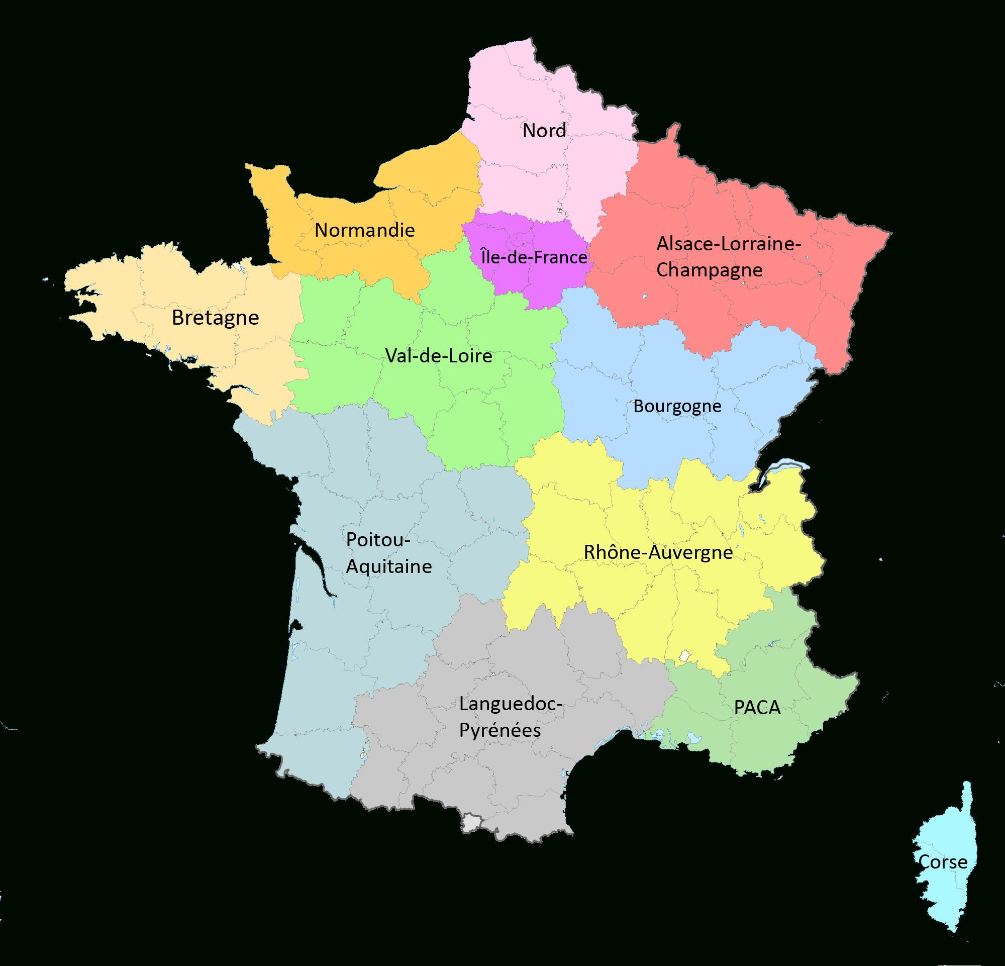Réforme Territoriale : Une Nouvelle Carte À 12 Régions encequiconcerne Nouvelle Carte Des Régions De France
