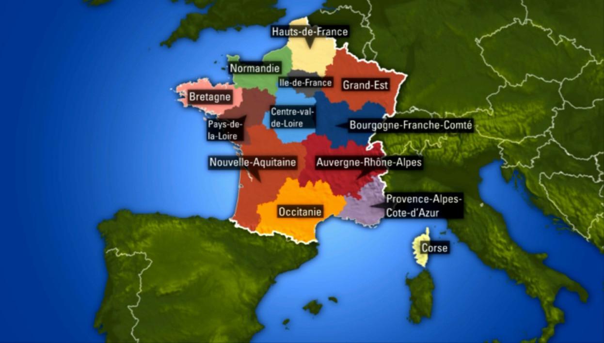 Régions Françaises: La Carte Des Nouveaux Noms encequiconcerne Nouvelle Region France