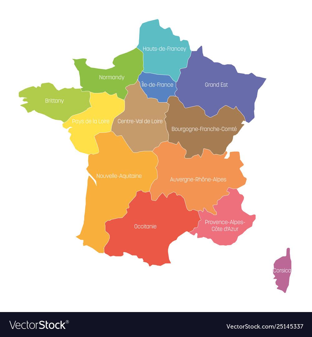 Regions France Map Regional Country intérieur Nouvelle Region France