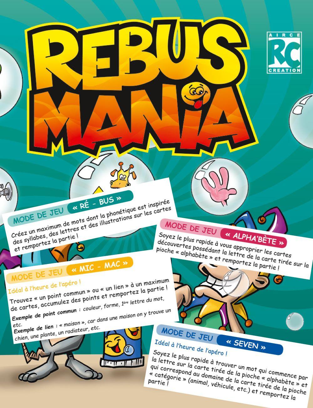 Règles Du Jeu Rebus Mania - Aircé.ch tout Jeux De Rebus