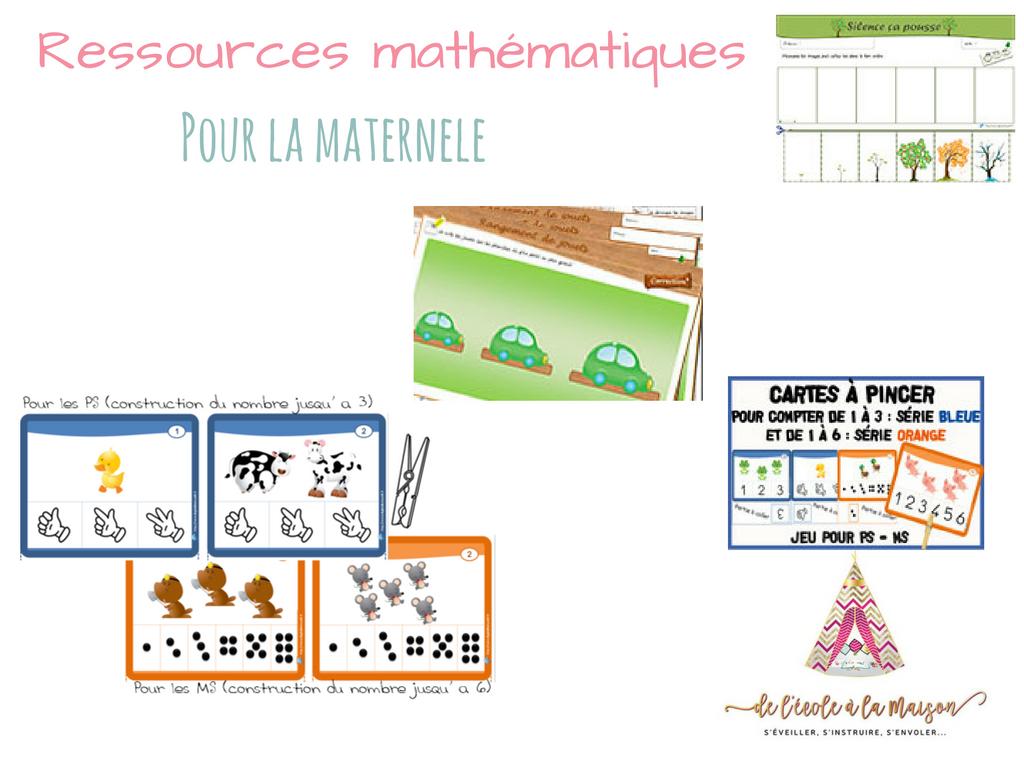 Ressources Mathématique À Imprimer Pour La Maternelle - serapportantà Jeux De Maternelle À Imprimer