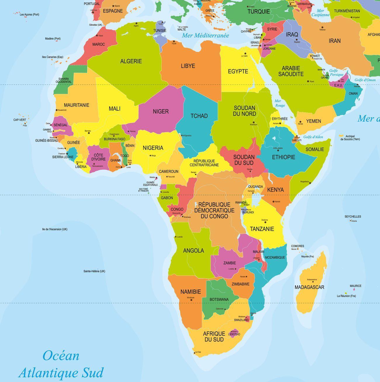 """Résultat De Recherche D'images Pour """"carte Afrique""""   Carte destiné Carte Europe Avec Capitales"""