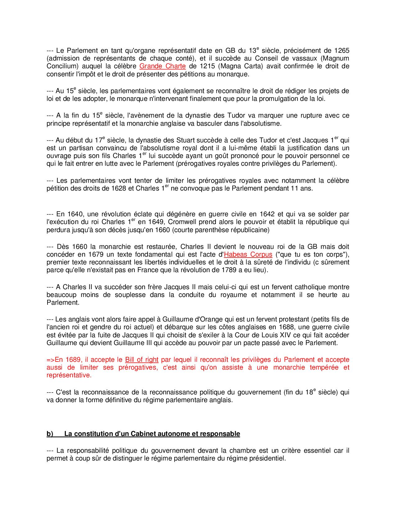 Résumé Sur Les Régimes Politiques Étrangers - 1° Partie pour Frere Jacques Anglais