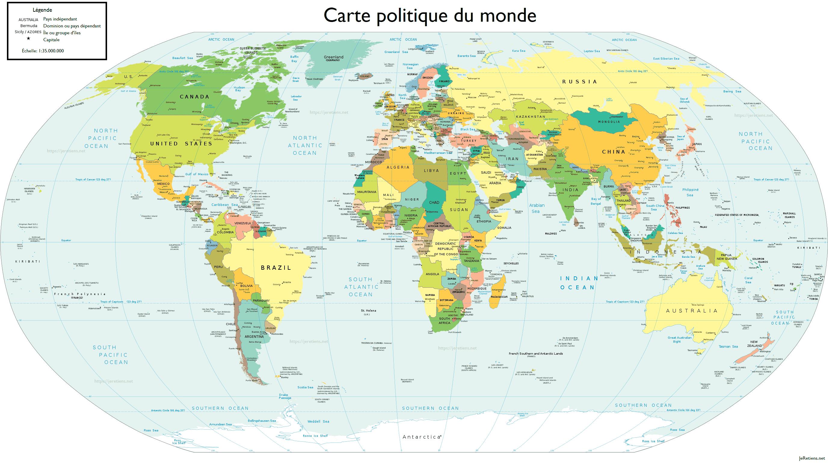 Retenir Tous Les Pays Du Monde Et Leur Capitale intérieur Carte Europe Capitale