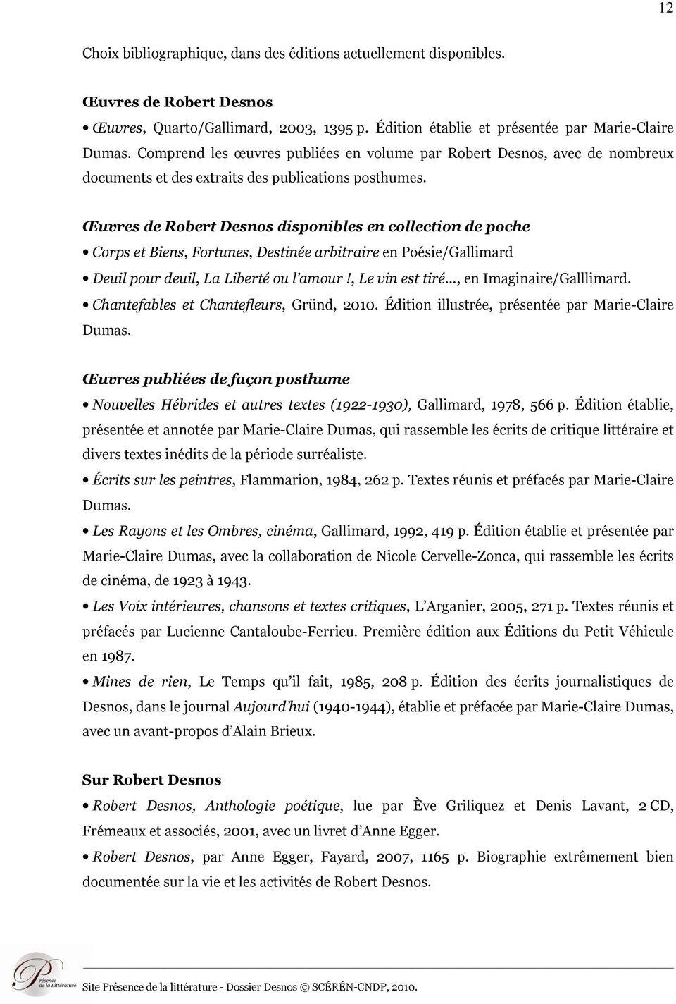 Robert Desnos, Une Vocation De Poète - Pdf Téléchargement serapportantà Poème De Robert Desnos