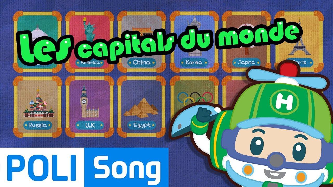 Robocar Poli | Les Capitals Du Monde | Chansons Pour Enfants encequiconcerne Chanson Robocar Poli