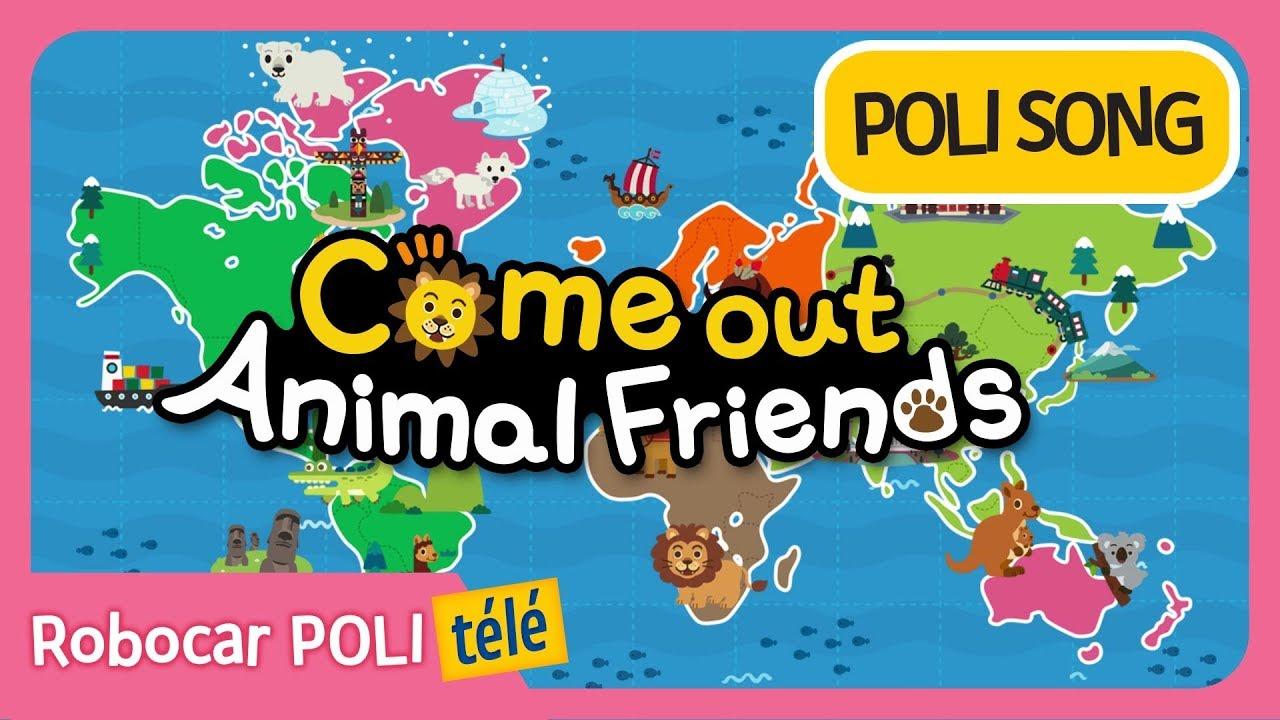 Robocar Poli | Sortir Animaux Amis | Chansons Pour Enfants concernant Chanson Robocar Poli