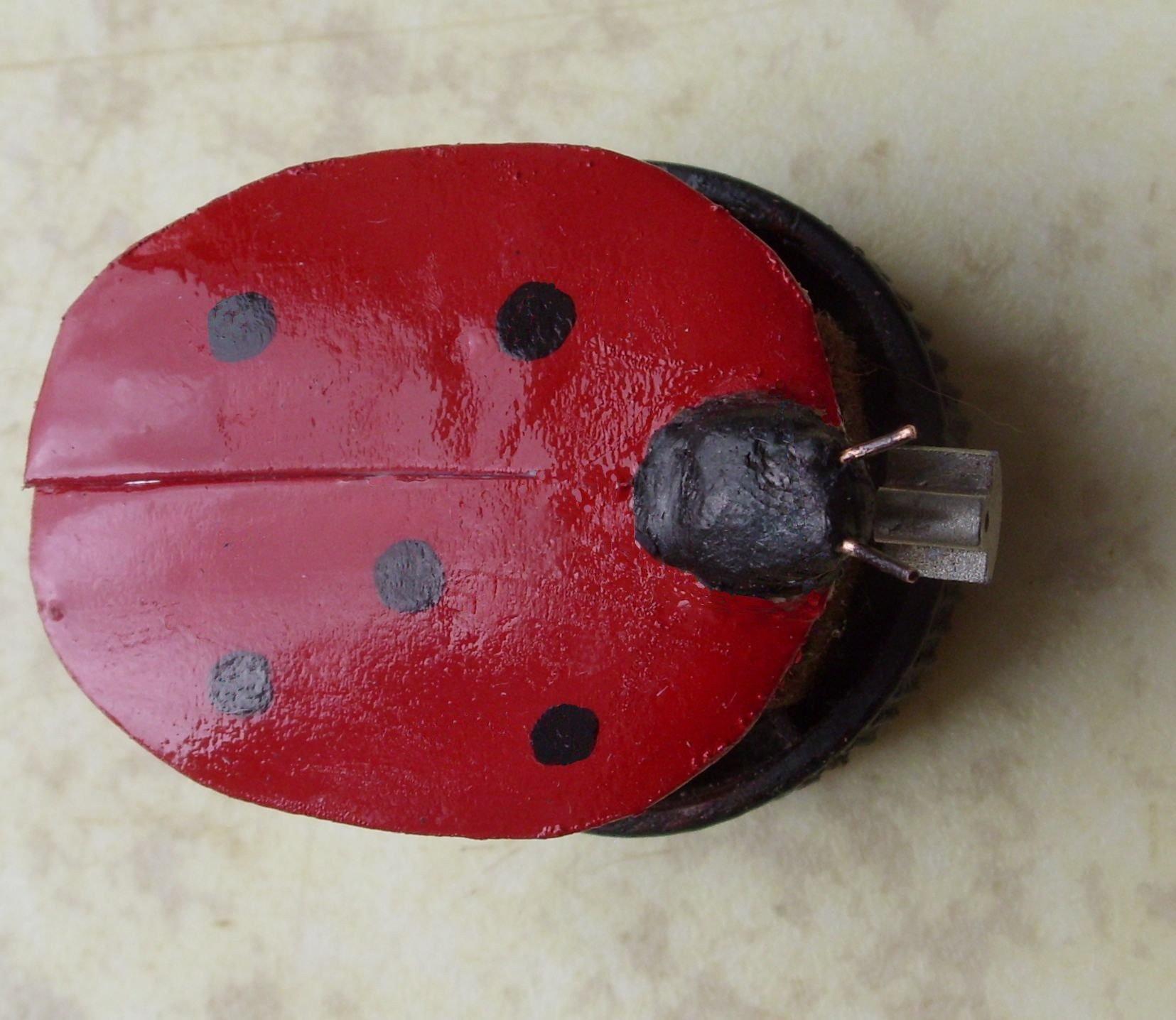 Robot Coccinelle Ladybug Vibrobot Simple | Oui Are Makers destiné Coccinelle A Coller