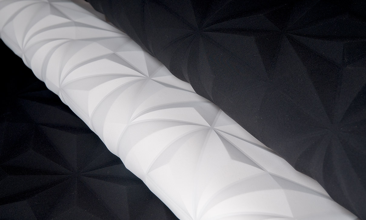 Rosace | Eclipse, Eine 3D Textilwandbekleidung In Weiss Und destiné Image De Rosace