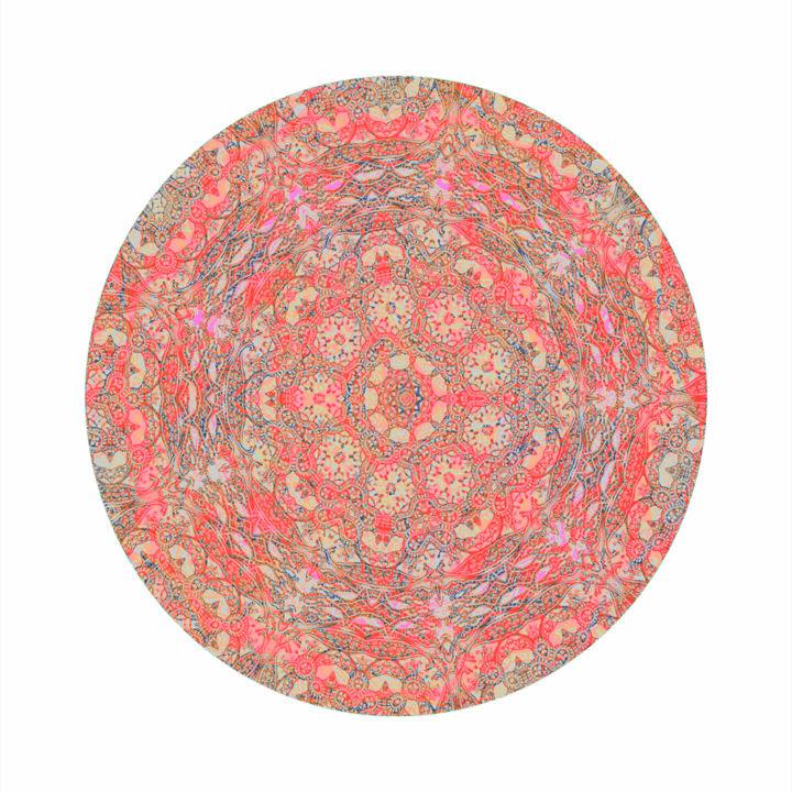 Rosace-Fleur Digital Arts By Ingrid Johann | Artmajeur destiné Image De Rosace