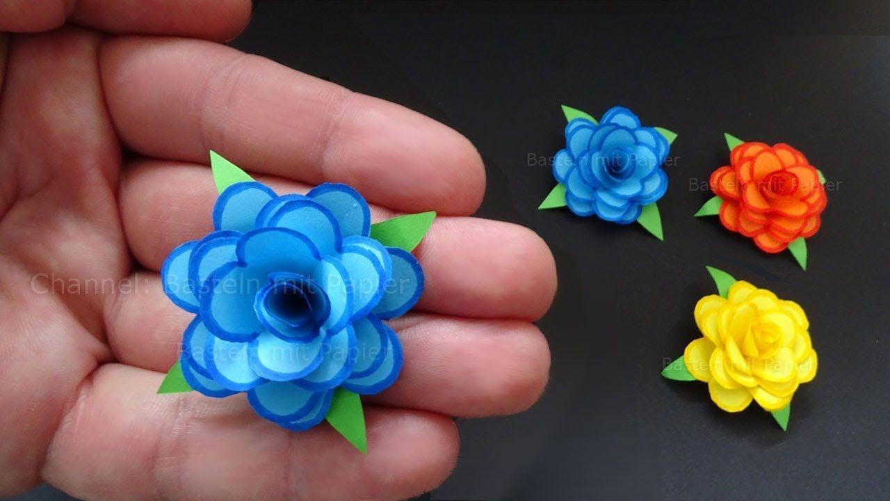 Rose En Papier 🌹 Origami Fleur - Bricolage Facile A Faire A intérieur Origami Rose Facile A Faire