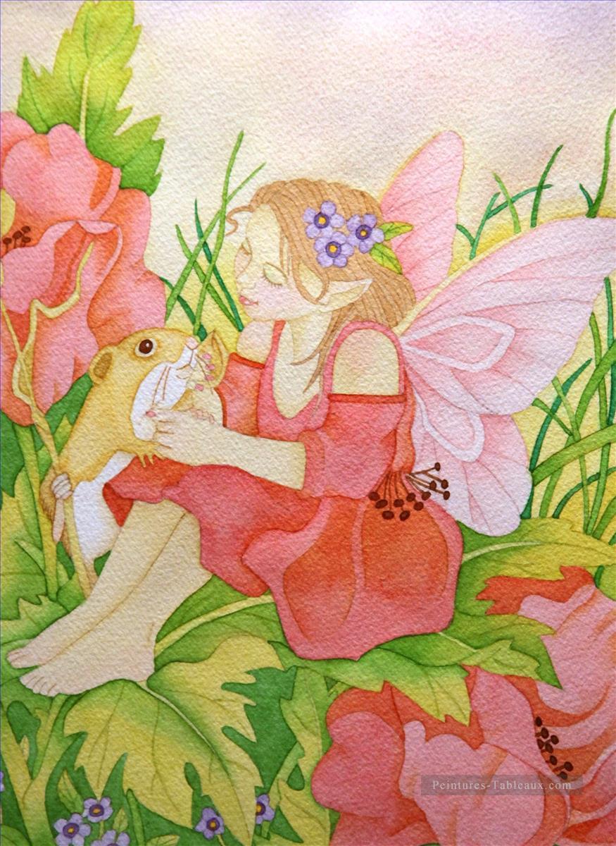 Rose Fée Pour Des Enfants Peinture Tableau En Vente dedans Tableau De Peinture Pour Enfant