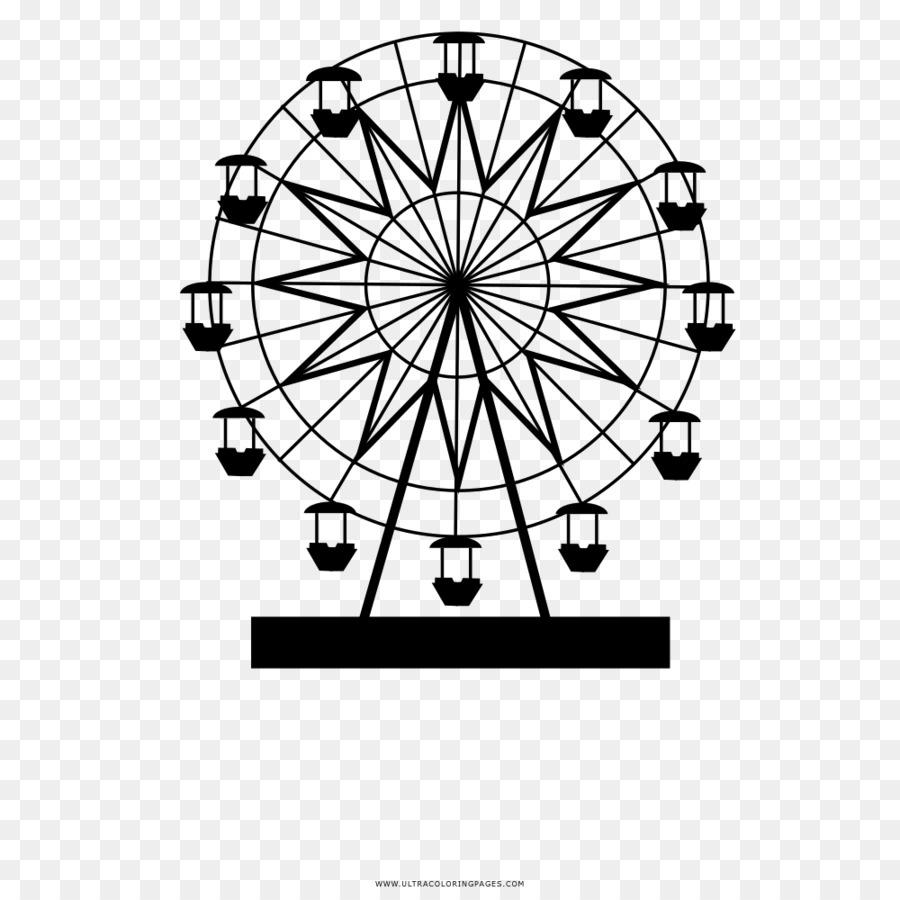 Roue De Ferris, London Eye, Dessin Png - Roue De Ferris pour Coloriage Grande Roue