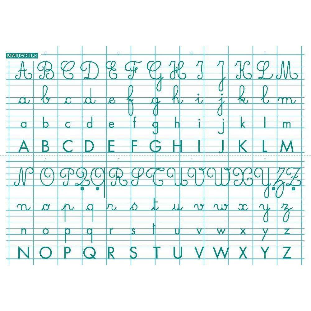 Rouleau Tableau Blanc Abécédaire 70X100 Cm - Generic dedans Exemple D Un Abécédaire