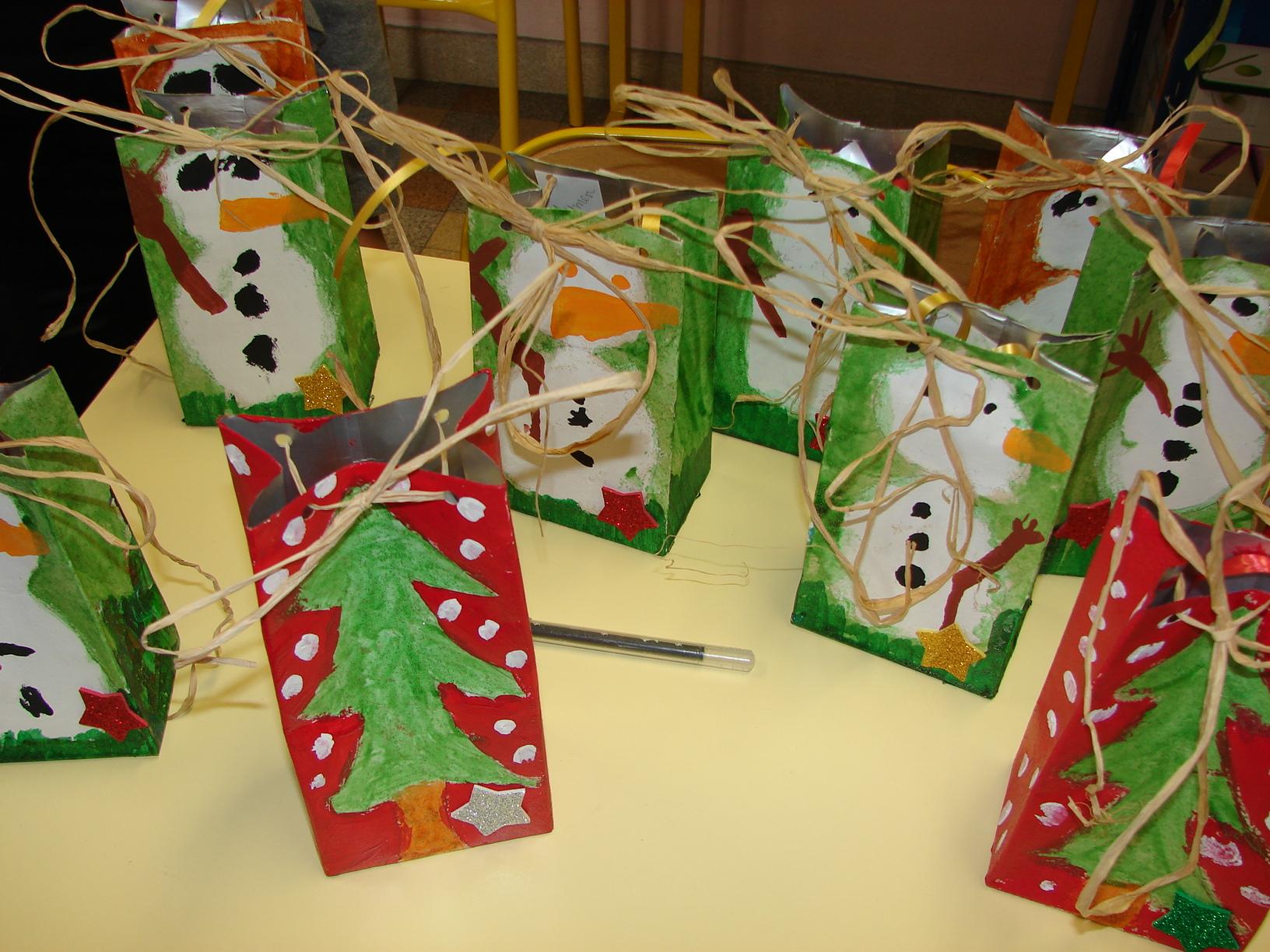 Sac Cadeau De Noël - L Ecole De Crevette à Bricolage Cp Noel