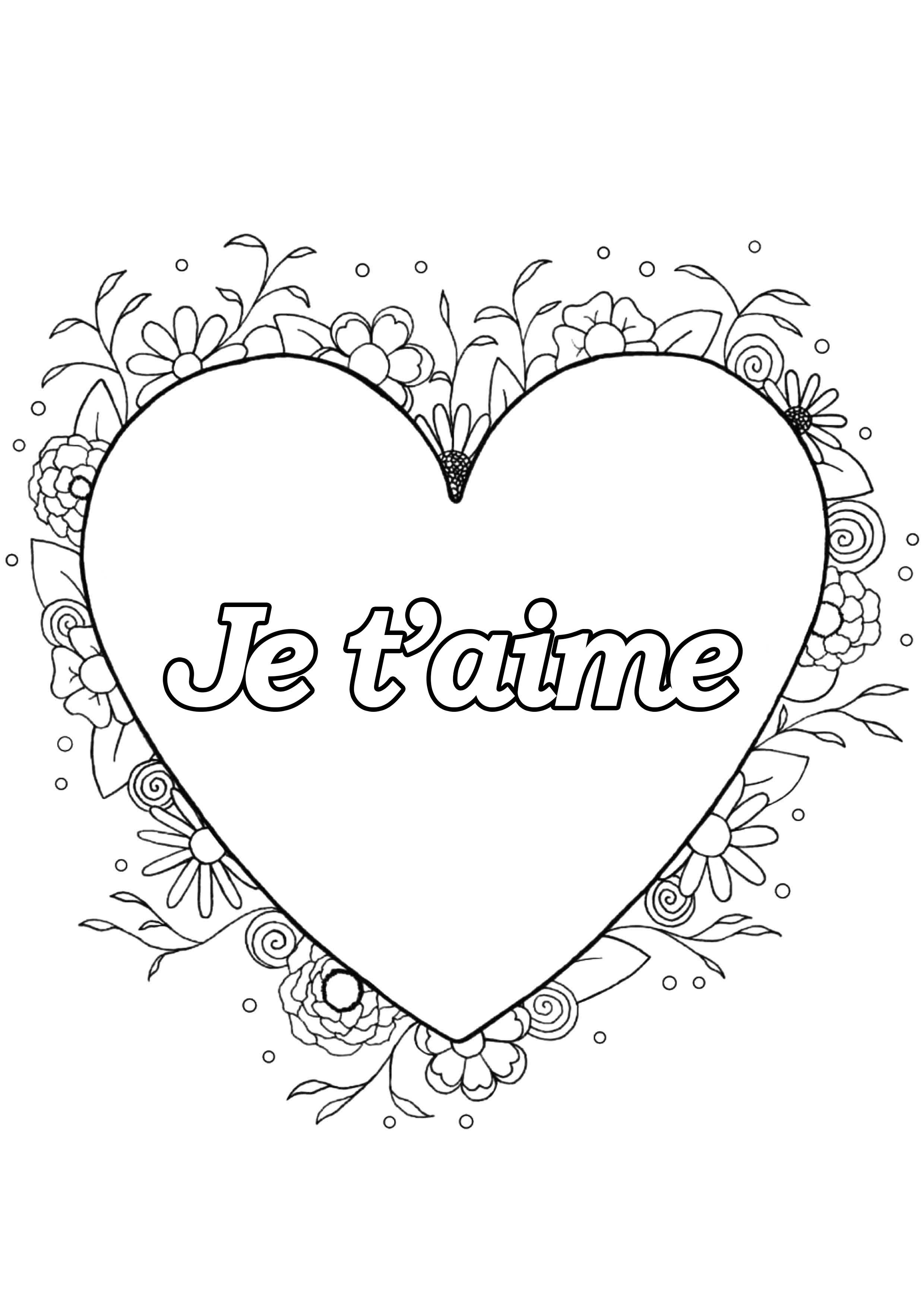 Saint Valentin 4 - Saint Valentin - Coloriages Difficiles dedans Coloriage De St Valentin