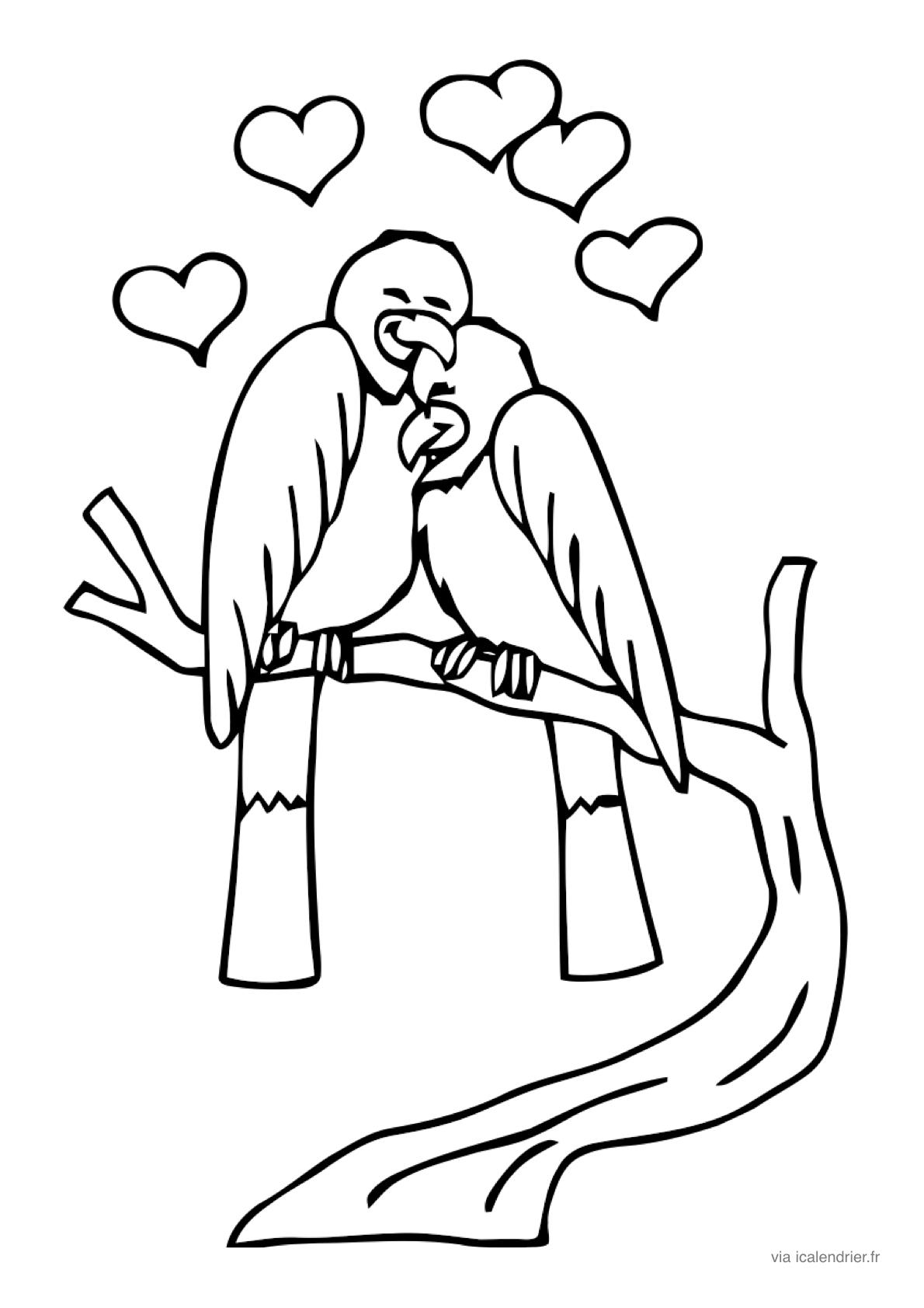 Saint-Valentin - Coloriage À Offrir - Icalendrier avec Coloriage Février