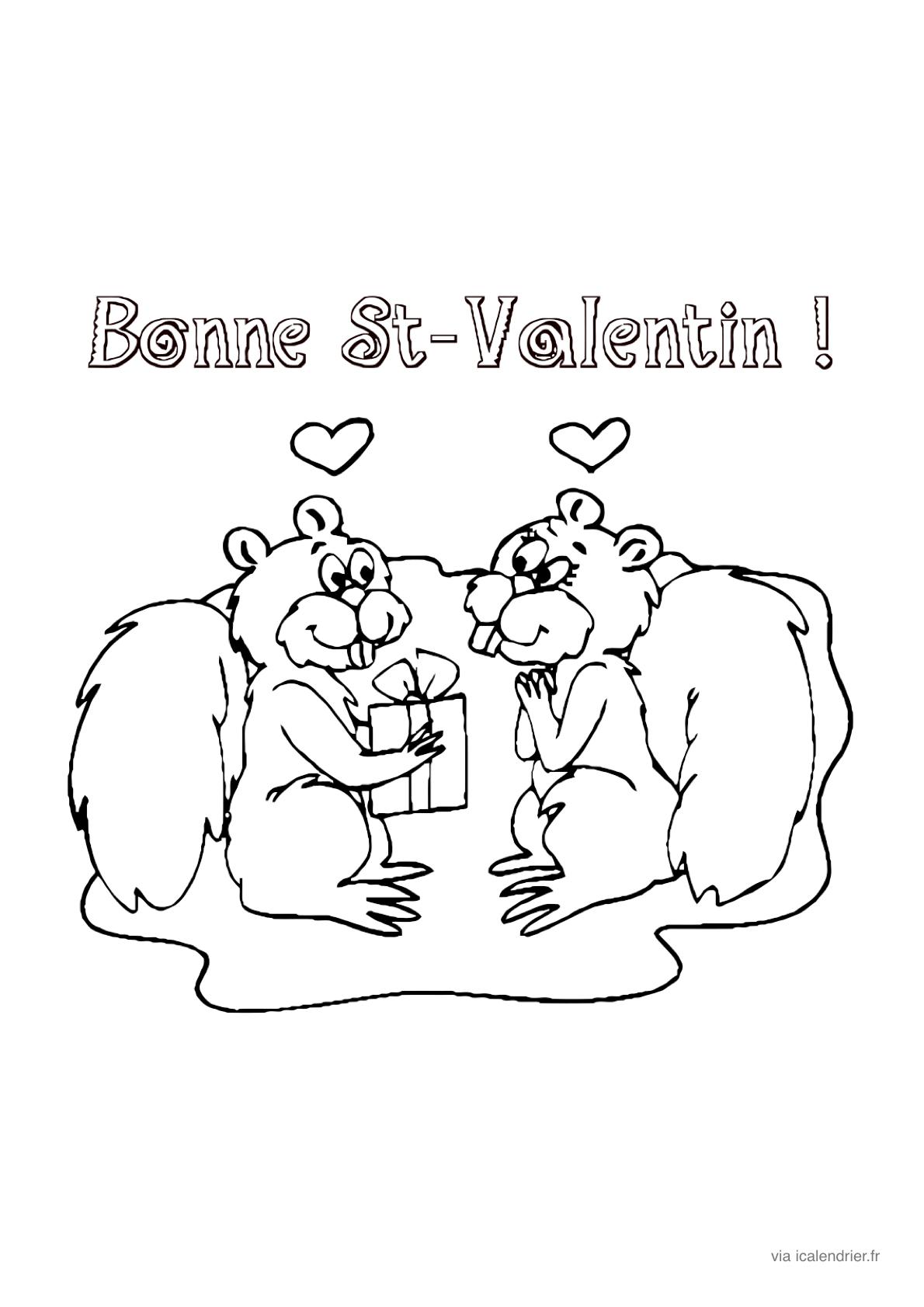 Saint-Valentin - Coloriage À Offrir - Icalendrier destiné Coloriage De St Valentin