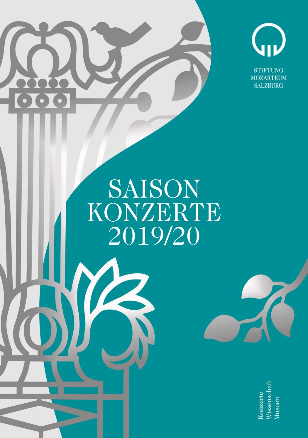 Saison Konzerte 2019/20 By Stiftung Mozarteum Salzburg - Issuu destiné Album Printemps Gs