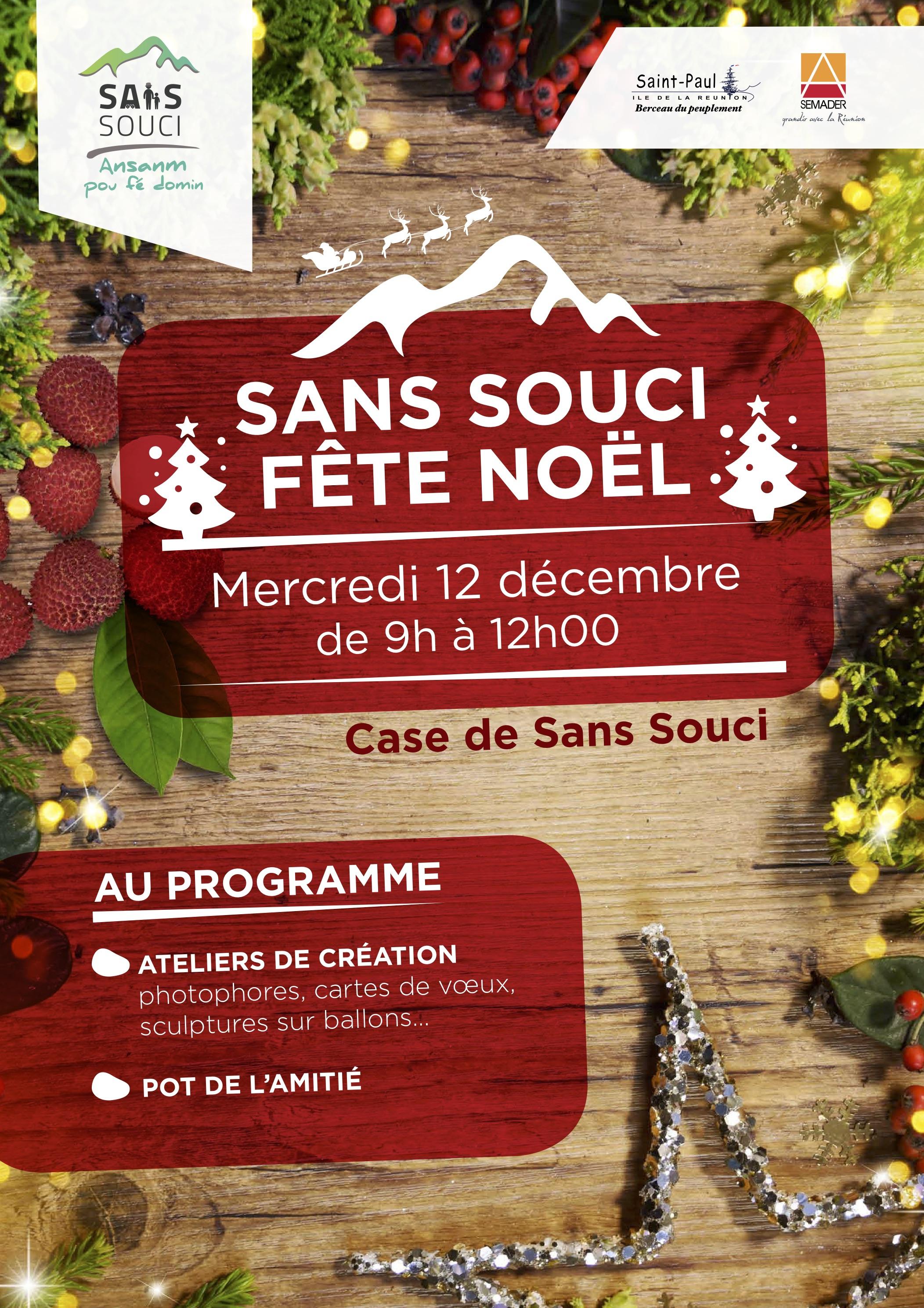 Sans Souci Fête Noël – Ville De Saint-Paul dedans Caillou Fete Noel