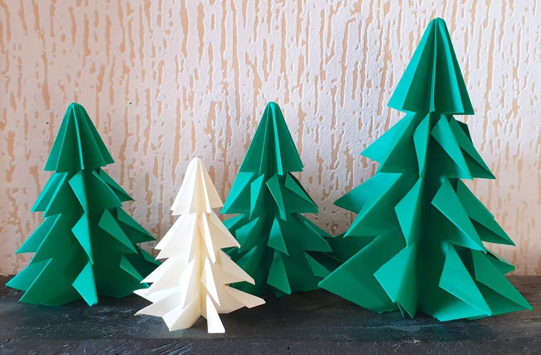 Sapin De Noël En Origami, Pliage Papier [Video] destiné Origami Facile A Faire En Français