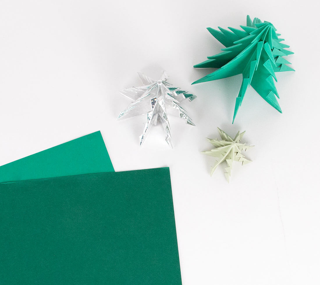 Sapin De Noël Origami : Le Tuto Beau Et Facile - My Little dedans Origami Sapin De Noel