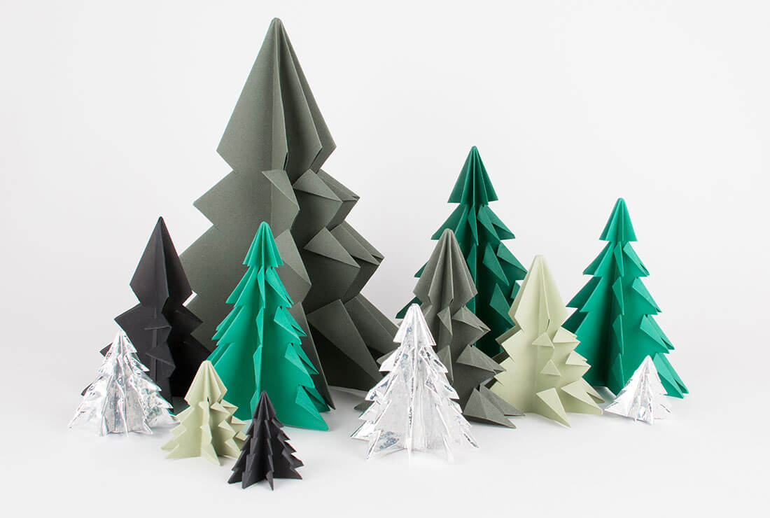 Sapin De Noël Origami : Le Tuto Beau Et Facile - My Little destiné Origami Sapin De Noel