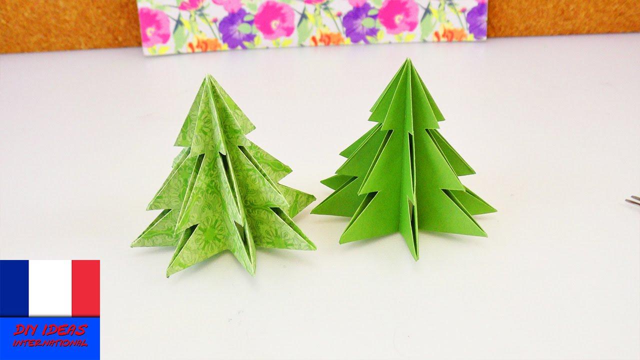 Sapin De Noël Origami / Pliage Pour Les Fêtes / Papier Et Ciseaux à Origami Sapin De Noel