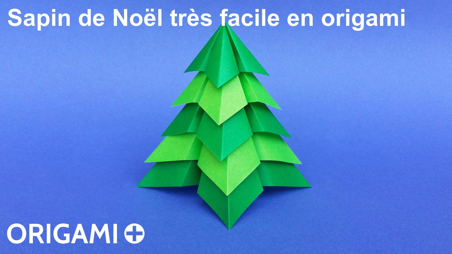 Sapin De Noël Très Facile En Origami à Origami Sapin De Noel