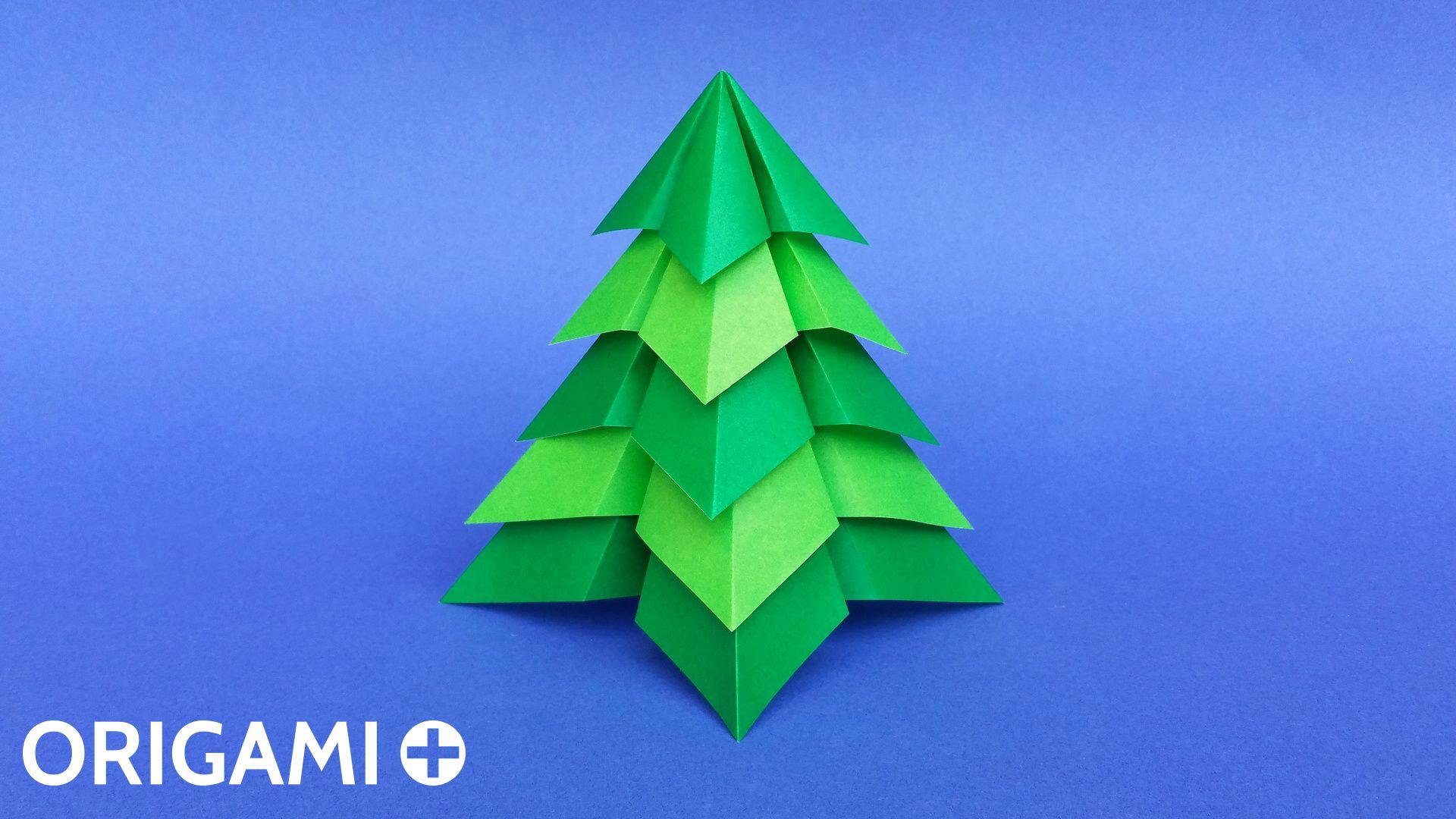 Sapin De Noël Très Facile En Origami dedans Origami Facile A Faire En Français