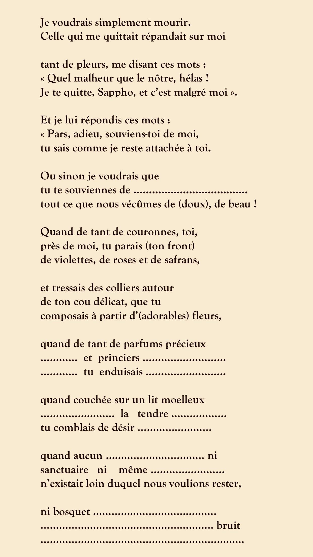 Sappho: La Dixième Muse Selon Platon – Des Avenues Et Des Fleurs tout Poeme Les Fleurs