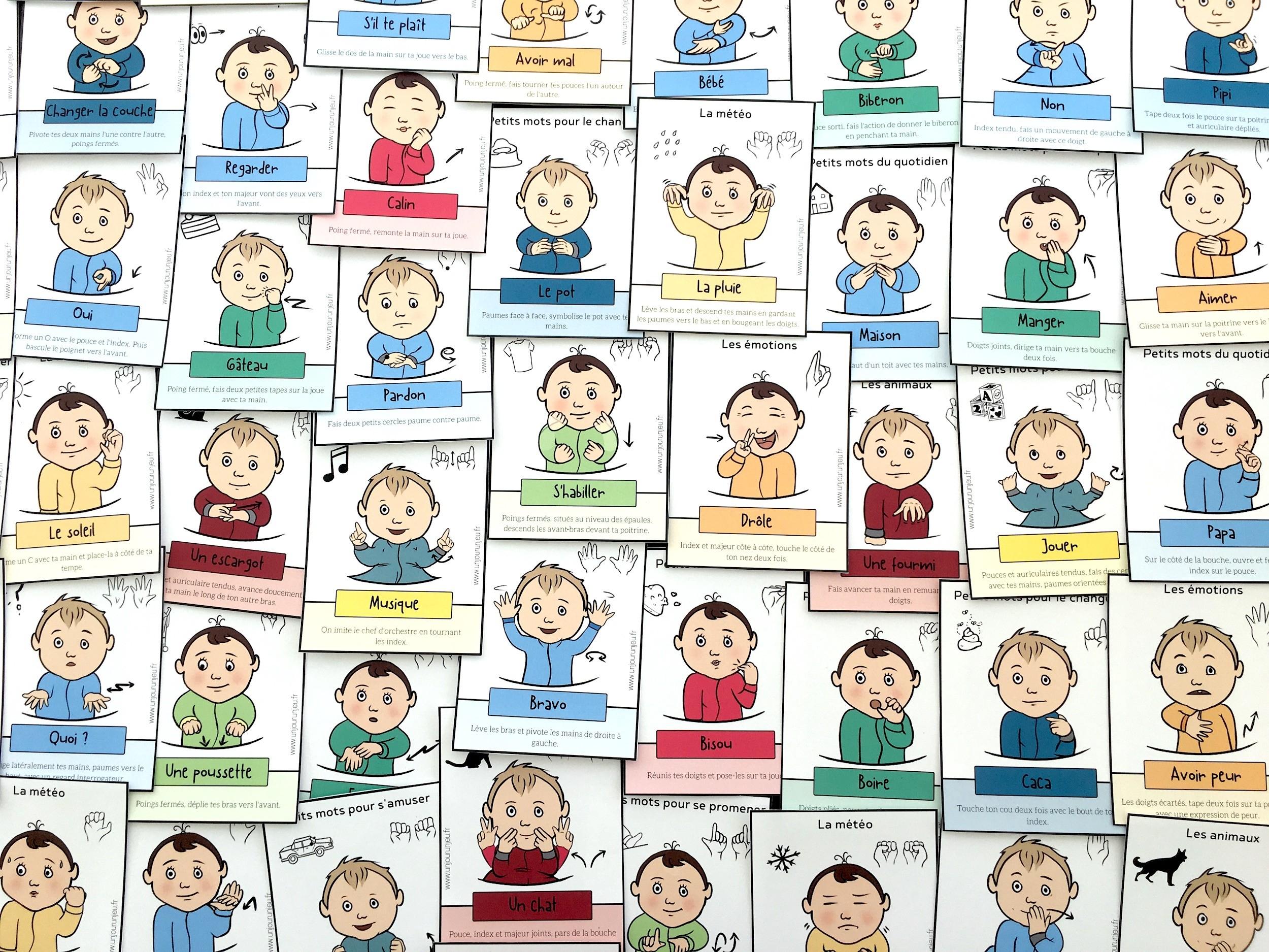 Signer Avec Son Bébé : 52 Cartes À Télécharger Gratuitement tout Apprendre Les Animaux Pour Bebe